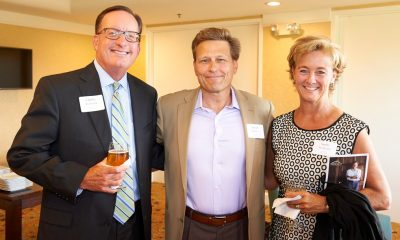 TD Banks' Charles Frederick, David Baldacci, and Sandy Frederick