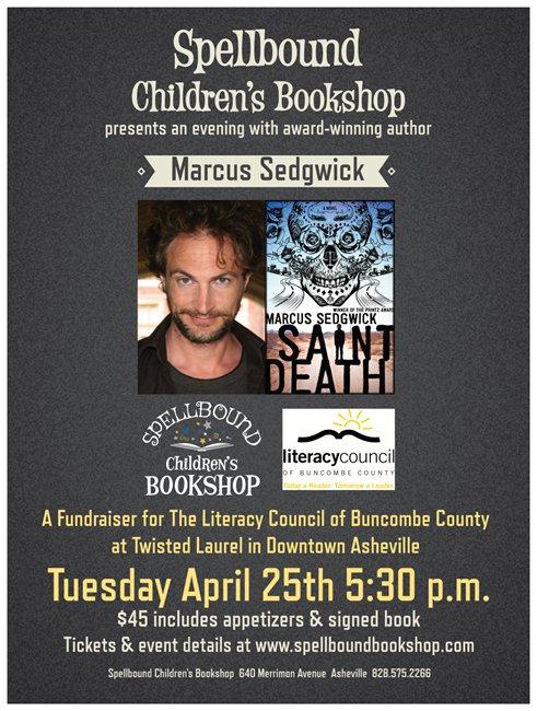 Marcus Sedgwick event poster