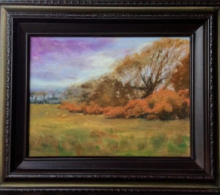 "Alison Webb – ""Blooming Gorse"" pastel"
