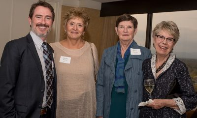 Wiley Cash and VIP guests Carolyn Termini, Janna Lutovsky, and Suzanne Jones