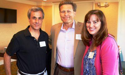 Constantine Marousis, David Baldacci, and Katie Marousis
