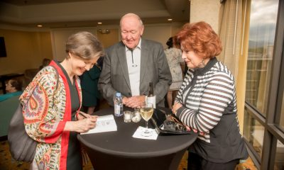 VIP guests Dewey & Susan Andrew await their signed book from Ann Patchett