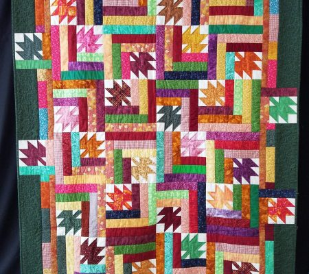 "Katie Winchell – ""Leaves for Literacy"" Quilt"